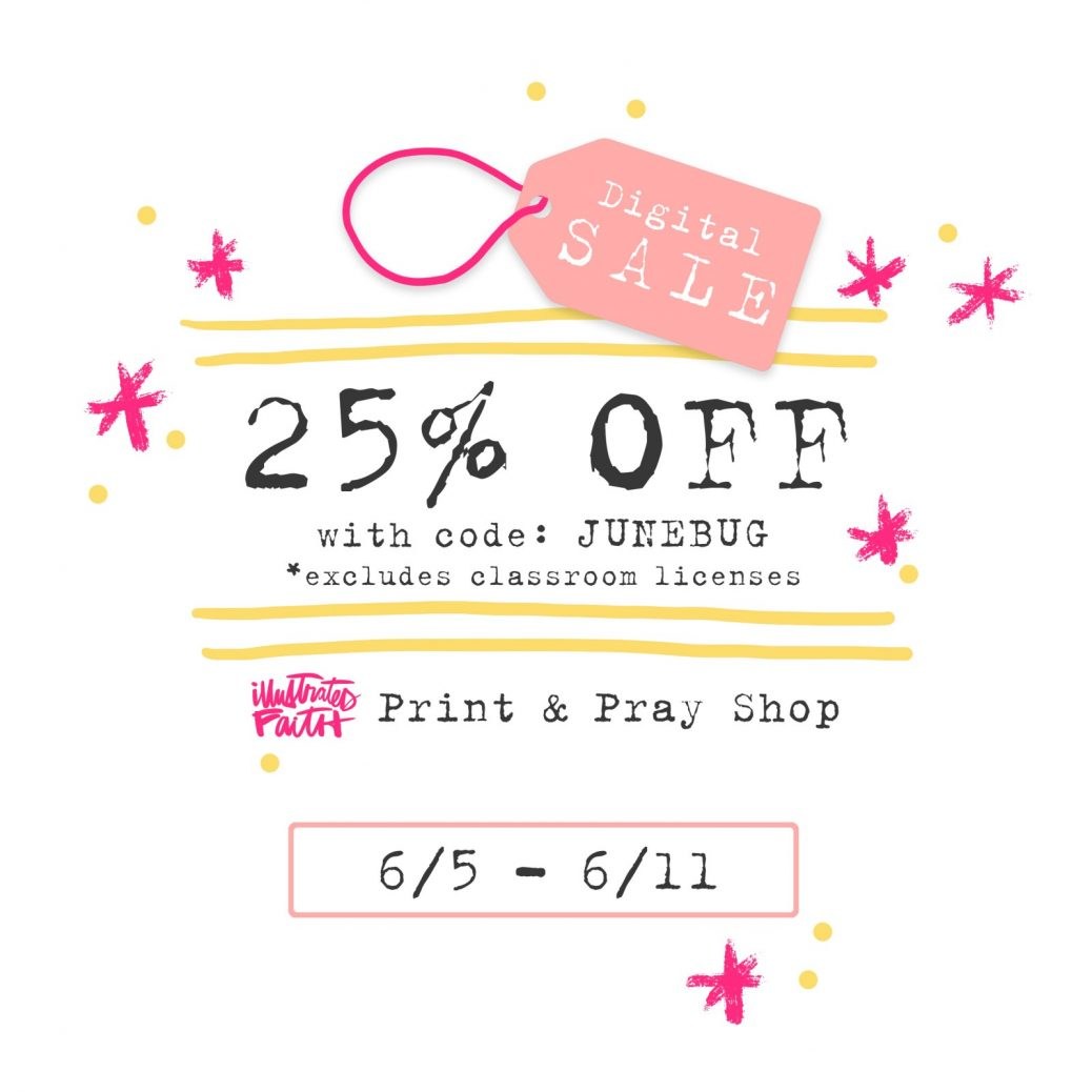 A little Digital Party with Bella Blvd! | Illustrated Faith Print & Pray Digital Sale Image