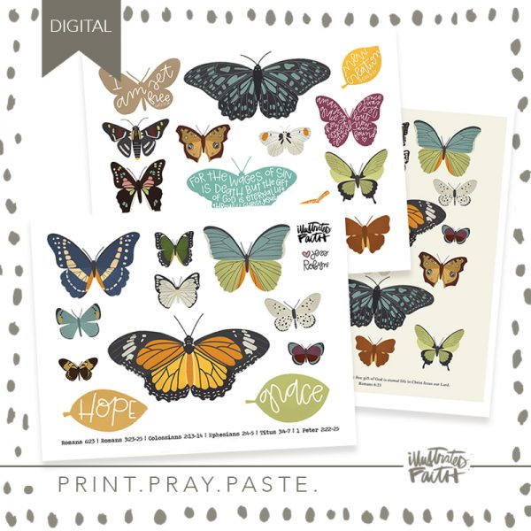 Illustrated Faith New Creation Printable