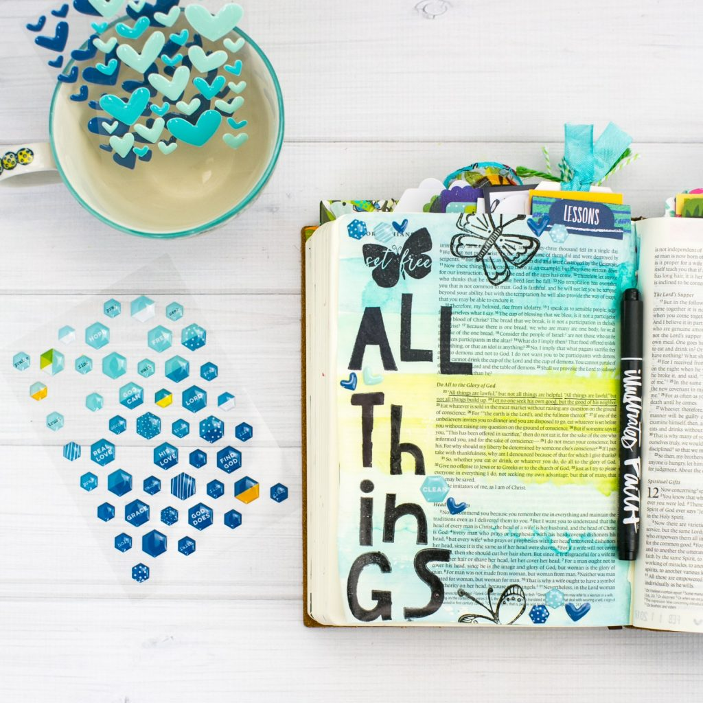 should you gesso in your Journaling Bible? Tutorial by Amy Bruce Watercolor Tutorial | To Prep or Not to Prep - Freedom in ALL Things