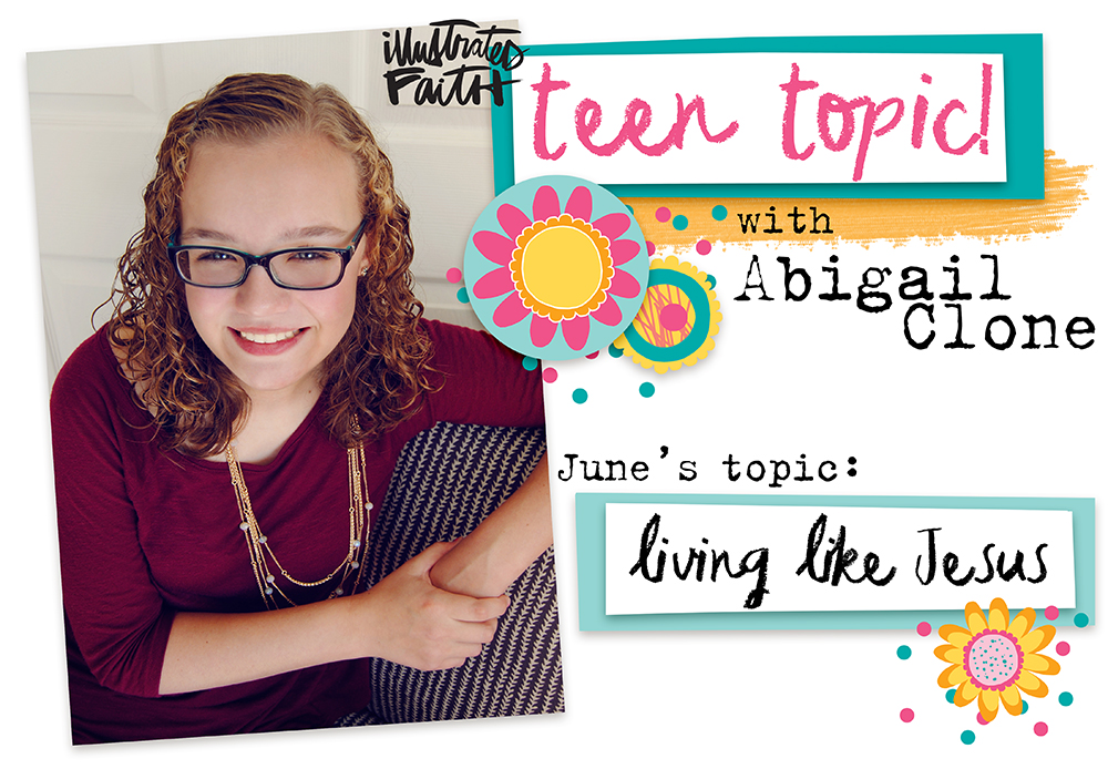 mixed media bible journaling page by Abigail Clone | Teen Topic: Living Like Jesus