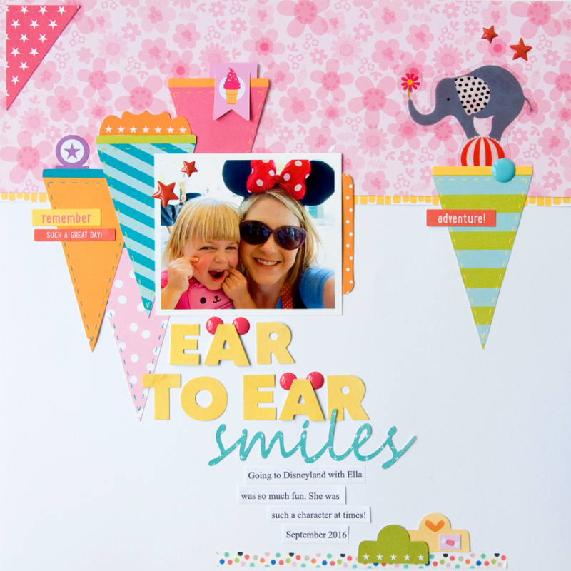 scrapbook pages by Tegan Skwiat   Illustrated Faith Bella Blvd Round Up July 2017