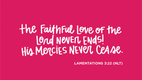 Sunday Inspiration from Lamentations 3:22