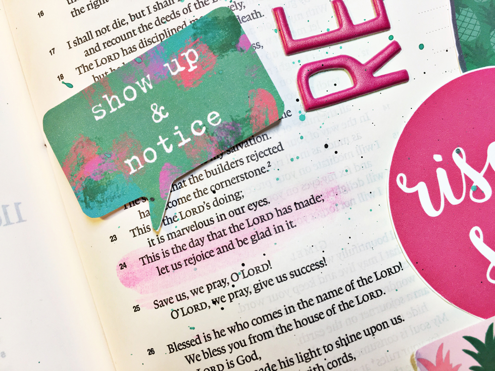 hybrid printable bible journaling entry by Andrea Gray   Memory Keeping: Faith Edition   REJOICE!