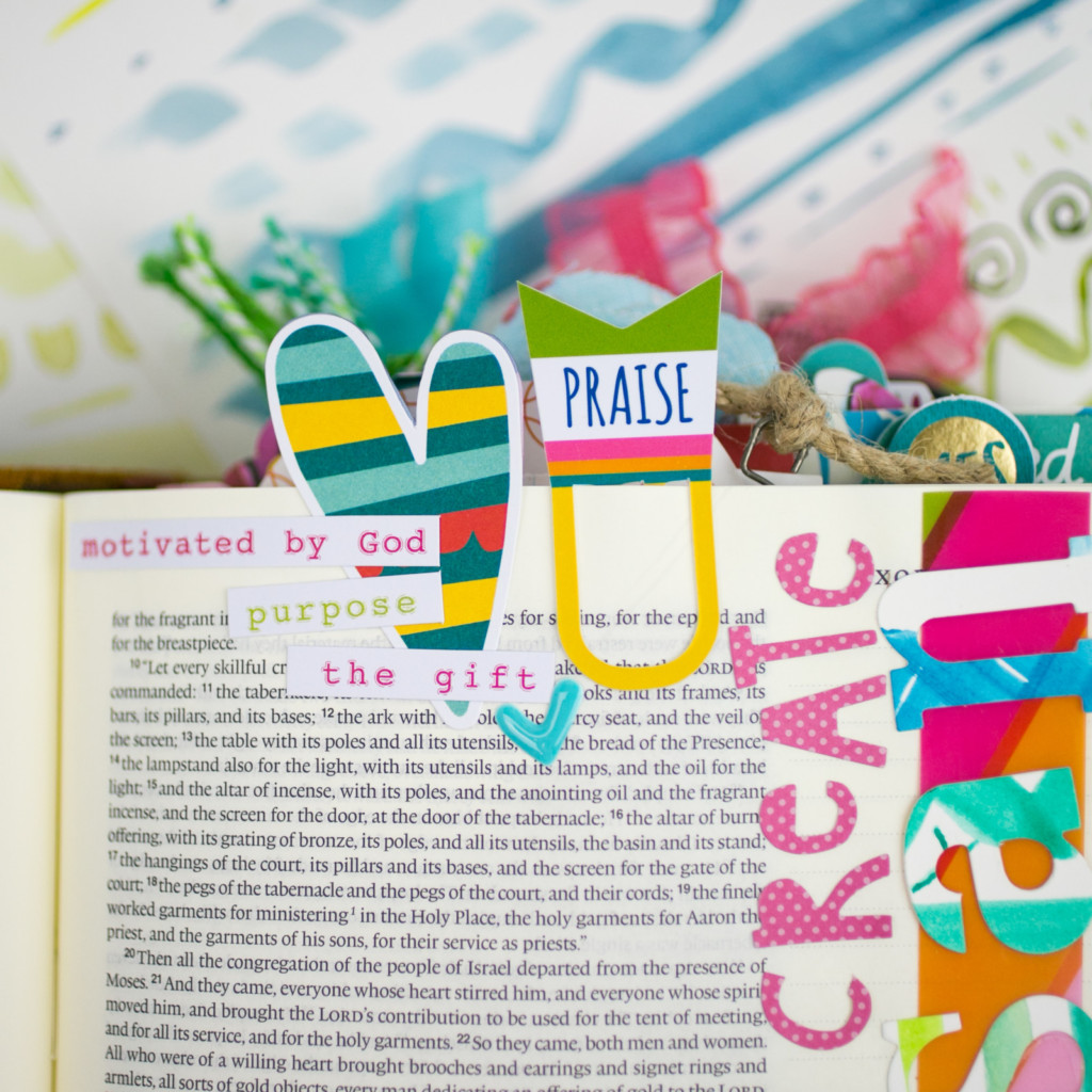 bible journaling entry by Amy Bruce | Watercolor Tutorial | Brush Marks - Created to Create - Part 2