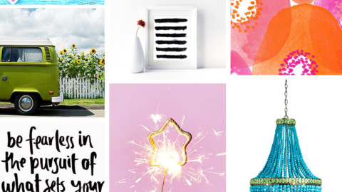 July Artist Mood Board & New Releases: Spark!