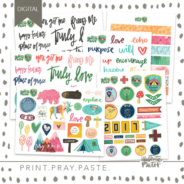 Illustrated Faith Revival Camp Printables