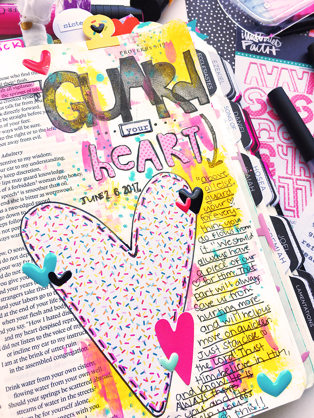 mixed media bible journaling entry by Abigail Clone | Teen Topic: Breakups