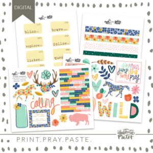 Illustrated Faith Wild Calling Printable