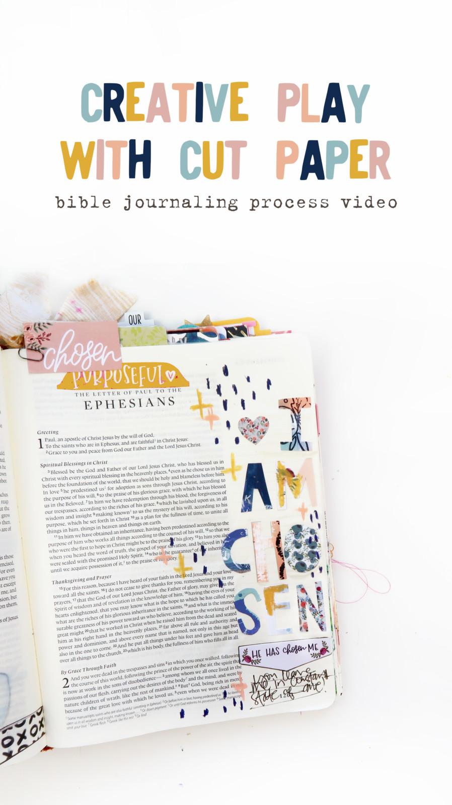 bible journaling process video