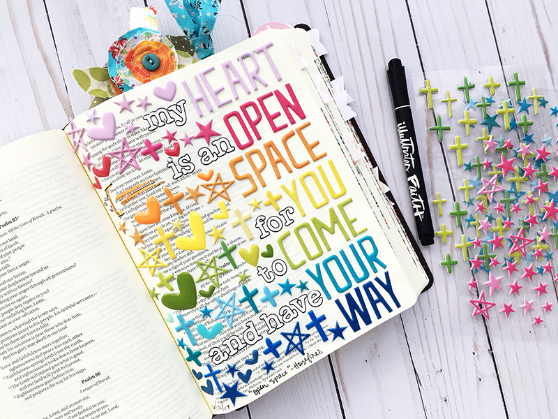 bible journaling entry by Bailey Robert | Words of Worship: Open Space