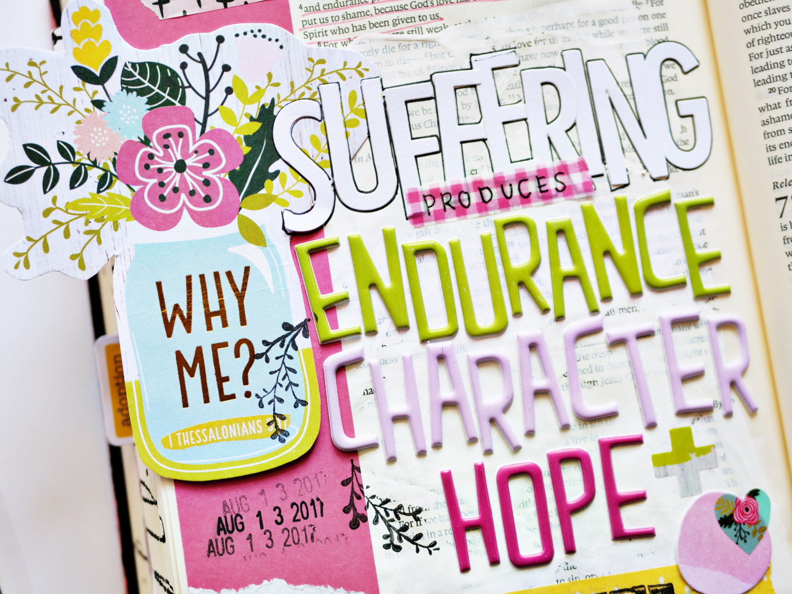 bible journaling entry by Andrea Gray | Why Me? A lesson in Perseverance
