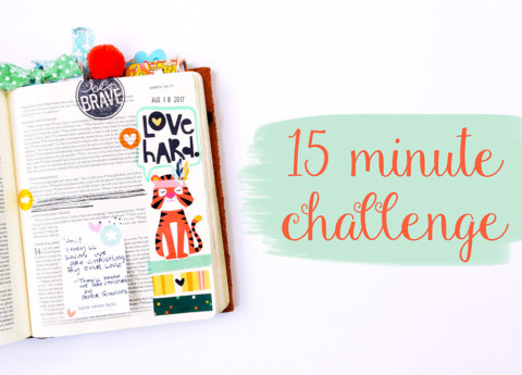 15 Minute Bible Journaling Challenge // Part 2