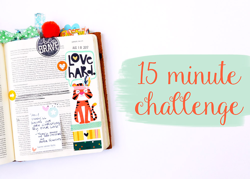 hybrid printables Bible jouraling entry by Elaine Davis | 15 Minute Bible Journaling Challenge // Part 2 | 3 additional tips for Bible journaling quickly