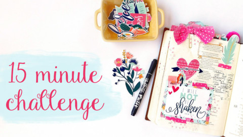 15 Minute Bible Journaling Challenge // Part 1