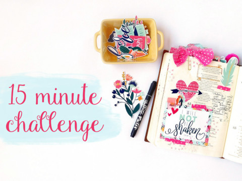 15 Minute Bible Journaling Challenge // Part 1