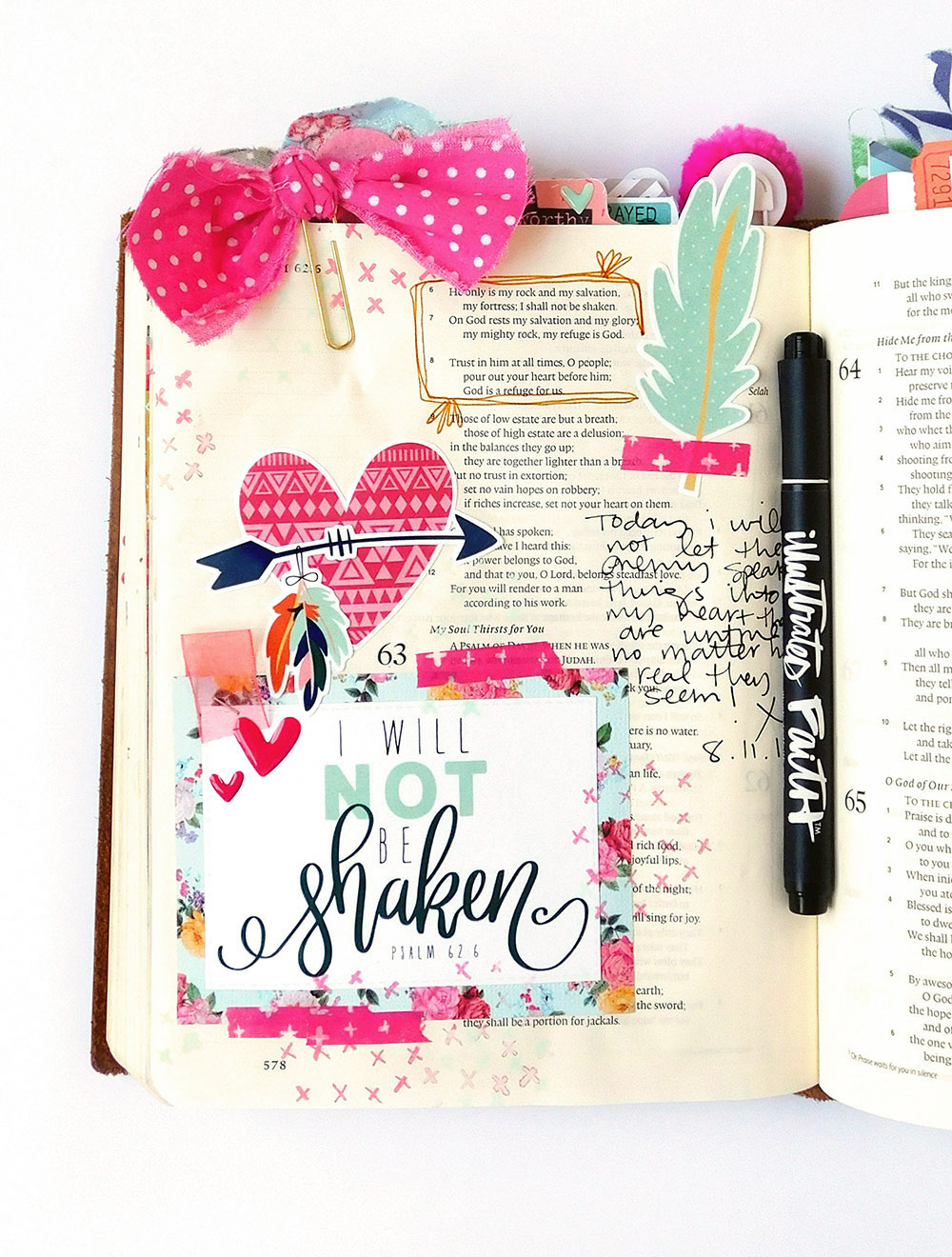 hybrid printable Bible journaling entry by Elaine Davis | 15 Minute Bible Journaling Challenge // Part 1