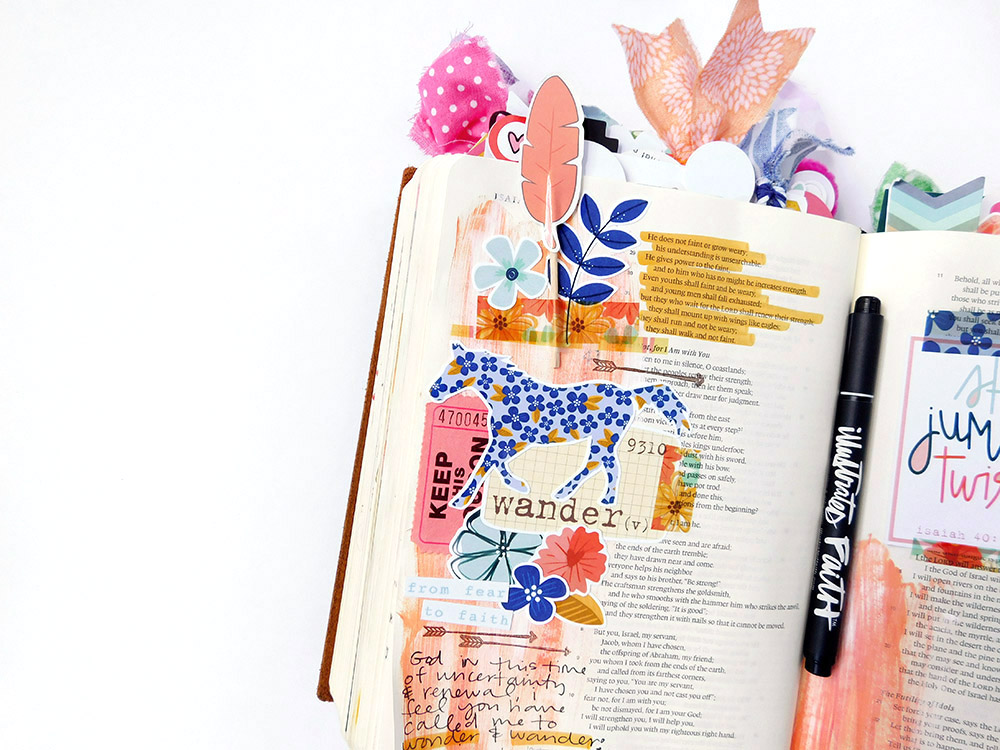 hybrid printable Bible journaling entry by Elaine Davis | We Are Called to Wonder & Wander