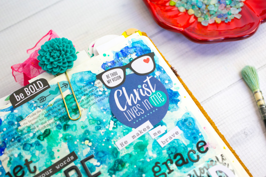 mixed media Bible journaling entry by Amy Bruce | Watercolor Tutorial | Leaning In - Seasoned with Salt