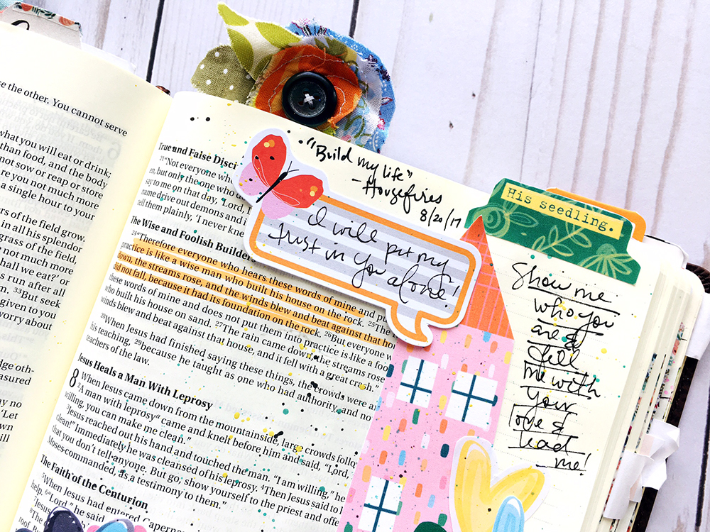 Bible journaling entry by Bailey Robert | Words of Worship: Build My Life