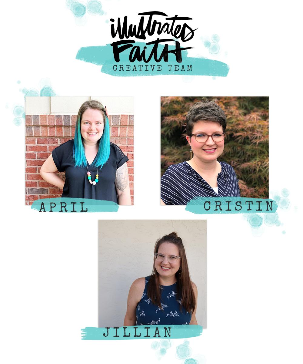Illustrated Faith welcomes April, Cristin and Jillian