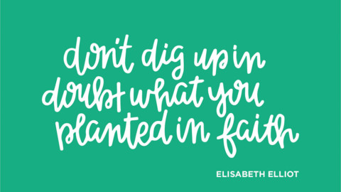 Sunday Inspiration from Elisabeth Elliot