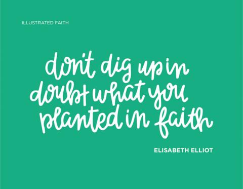 Sunday Inspiration from Elisabeth Elliot