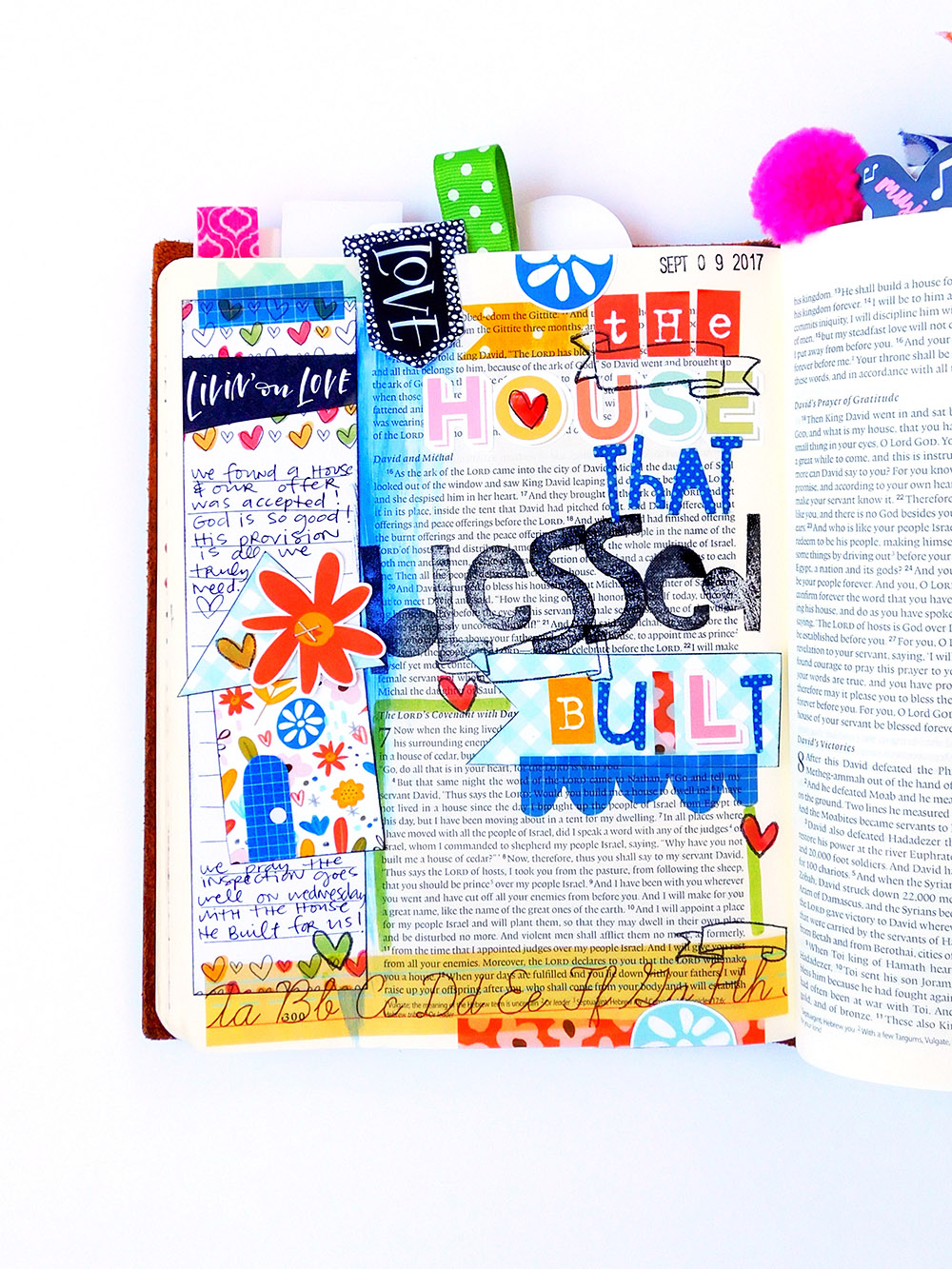 hybrid Bible journaling entry by Elaine Davis using digital printables | The House That Blessed Built
