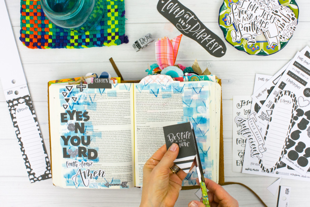 Watercolor Bible Journaling Tutorial | Faith over Fear - Layers and Stamping by Amy Bruce | Illustrated Faith Faith > Fear