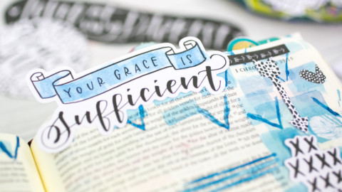 Watercolor Tutorial   Faith over Fear – Layers and Stamping