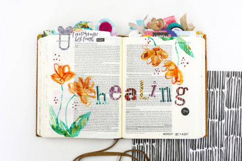 Watercolor Tutorial | Simple Flowers and Alphas – Healing God