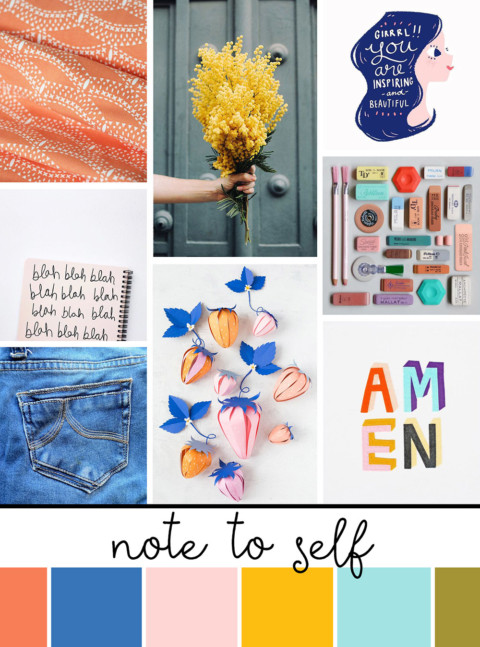 September Artist Mood Board & New Releases: Note to Self