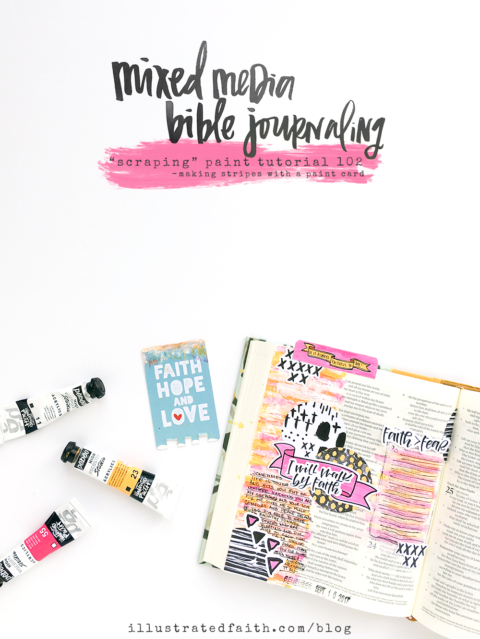 Mixed Media Bible Journaling – Scraping Paint Tutorial 201