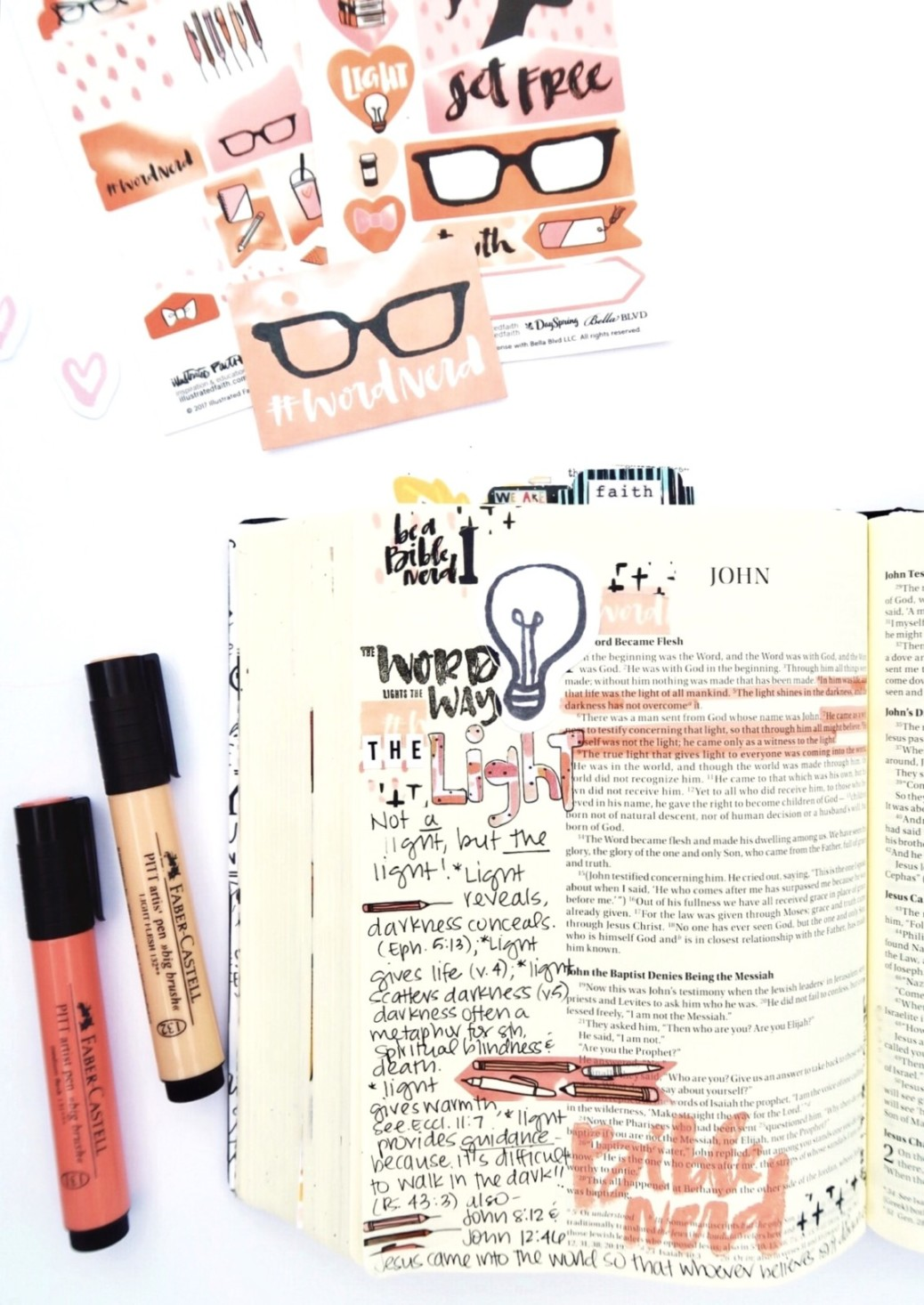 Bible journaling entry by Jillian Ungerbuehler | Word Nerd Session 1 | process video