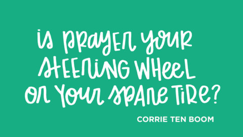Sunday Inspiration from Corrie Ten Boom