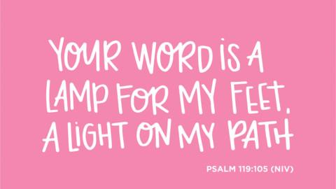 Sunday Inspiration from Psalm 119:105