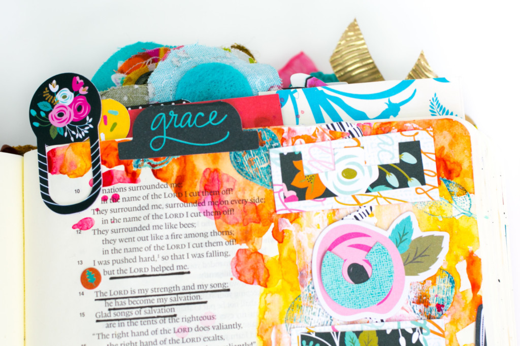Rejoice - journaling through the mess | watercoloring Bible journaling tutorial by Amy Bruce