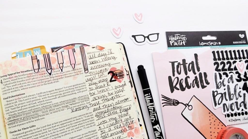 Bible journaling process video by Jillian Ungerbuehler | Word Nerd week 2