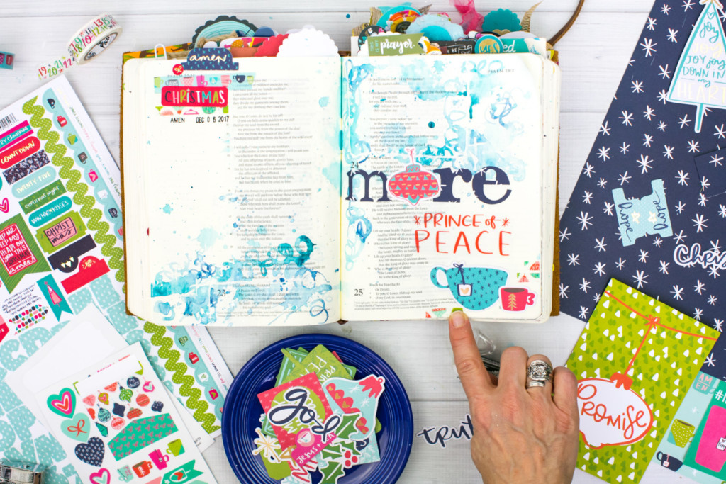 Advent Bible journaling by Amy Bruce | Advent Watercolor Tutorial | MORE Jesus - Who Needs a Brush
