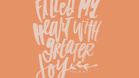 Sunday Inspiration from Psalm 4:7