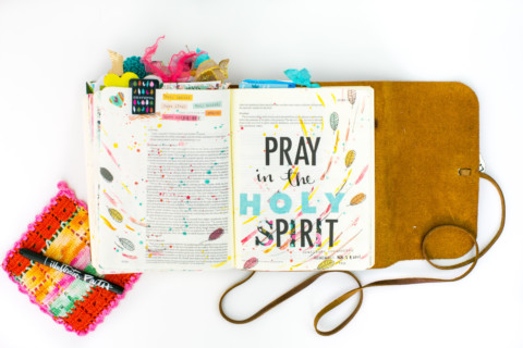 Gratitude Documented Day 15 | Holy Spirit [Jude 17-21] | Watercolor Tutorial – Splatters and Wax