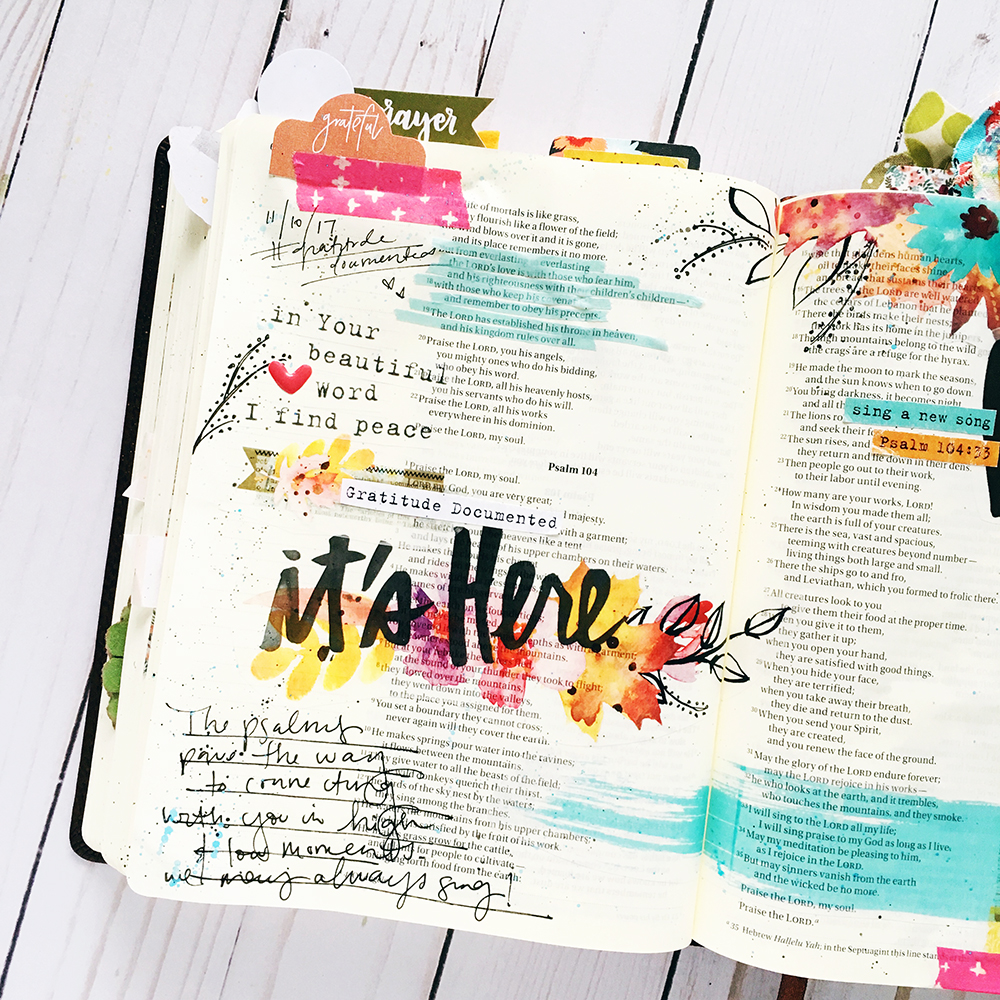 Bible journaling entry by Bailey Robert | Gratitude Documented Day 10 | Music [Psalm 104:33]