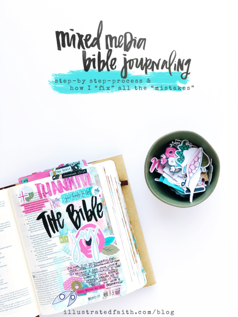 Gratitude Documented Day 22 | The Bible [Jeremiah 15:16] | Mixed Media Bible Journaling