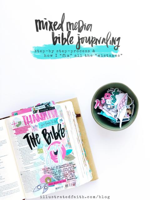 Gratitude Documented Day 22 | The Bible [Jeremiah 15:16] | Mixed Media Bible Journaling