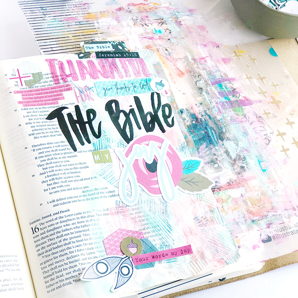 Gratitude Documented Day 22 | The Bible [Jeremiah 15:16] | Mixed Media Bible Journaling by Heather Greenwood