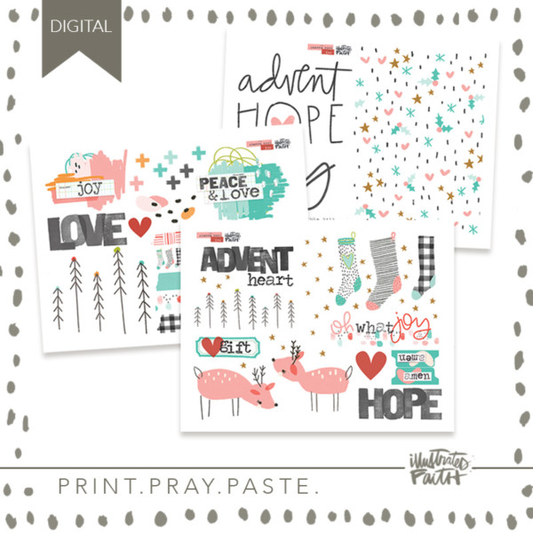 Illustrated Faith Advent Heart Printable