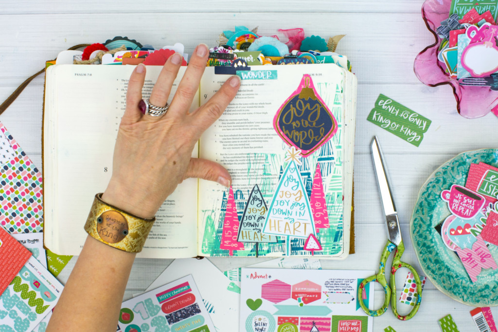 Bible Journaling Tutorial by Amy Bruce | JOY - Making Simple Stamps