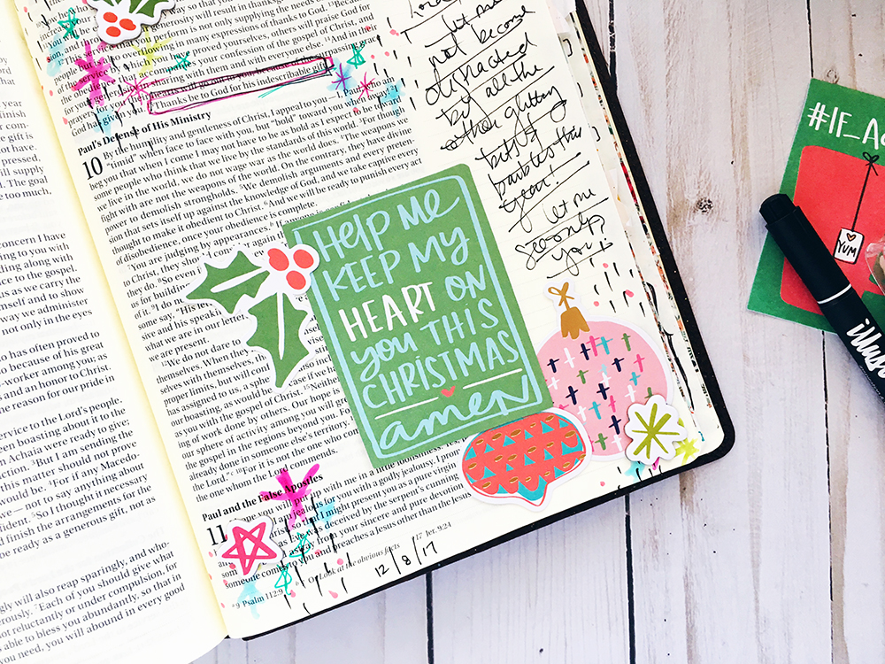 bible journaling entry by Bailey Robert | Better than Bits and Baubles