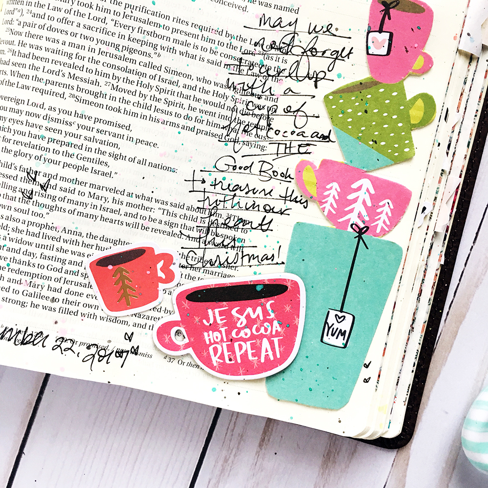 bible journaling entry by Bailey Robert | After Advent | Treasure the Miracle
