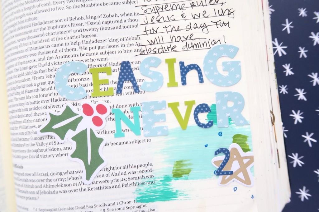 mixed media Bible journaling video process by Jillian Ungerbuehler   Advent Day 2   process video