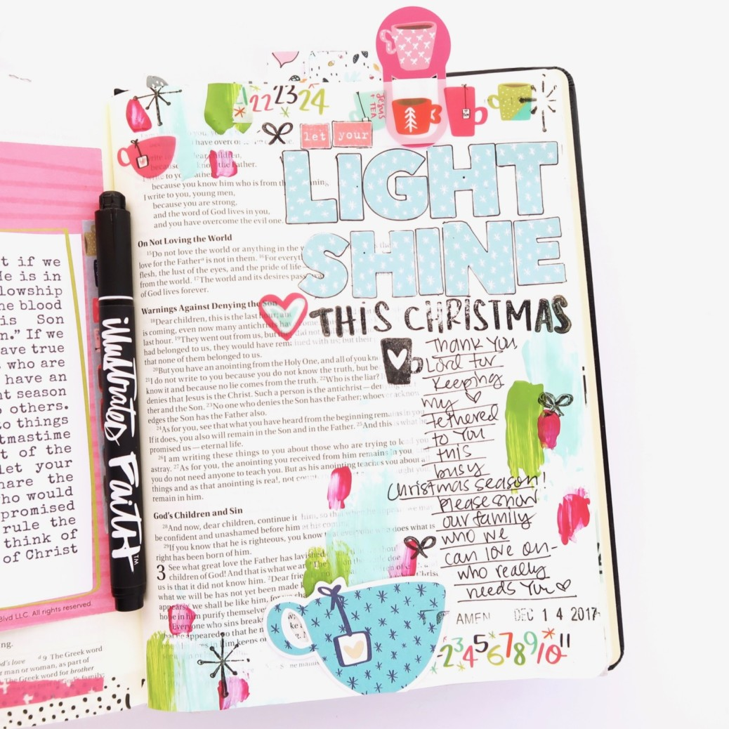 Bible journaling entry by Jillian Ungerbuehler | Advent Day 8 | process video